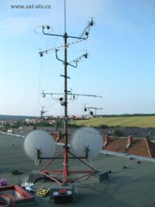 STA stožár antény před rekonstrukcí Náměšť nad Oslavou