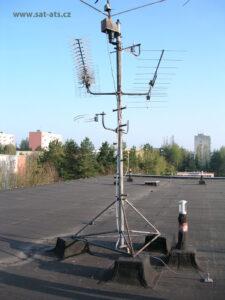 STA stožár antény před rekonstrukcí Žďár nad Sázavou